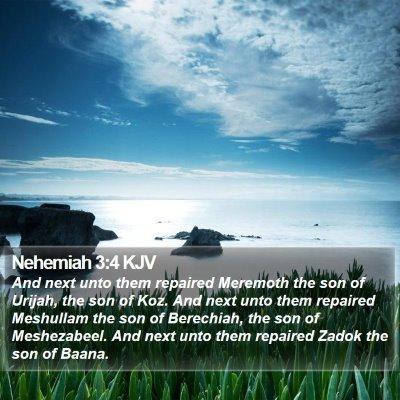 Nehemiah 3:4 KJV Bible Verse Image