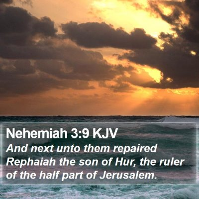 Nehemiah 3:9 KJV Bible Verse Image