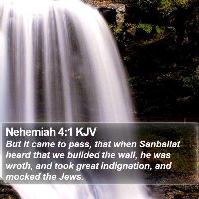 Nehemiah 4:1 KJV Bible Verse Image
