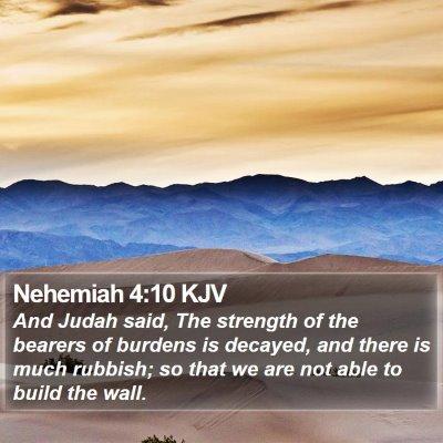 Nehemiah 4:10 KJV Bible Verse Image