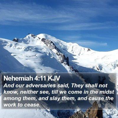 Nehemiah 4:11 KJV Bible Verse Image