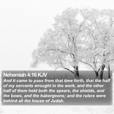 Nehemiah 4:16 KJV Bible Verse Image