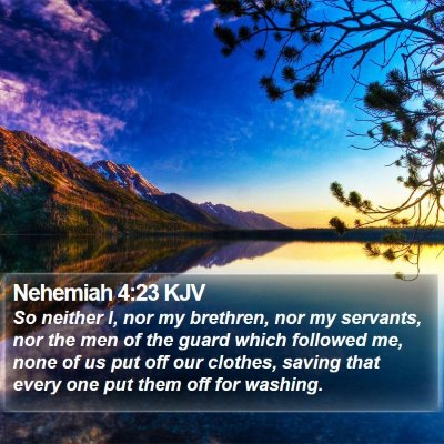 Nehemiah 4:23 KJV Bible Verse Image