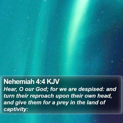 Nehemiah 4:4 KJV Bible Verse Image
