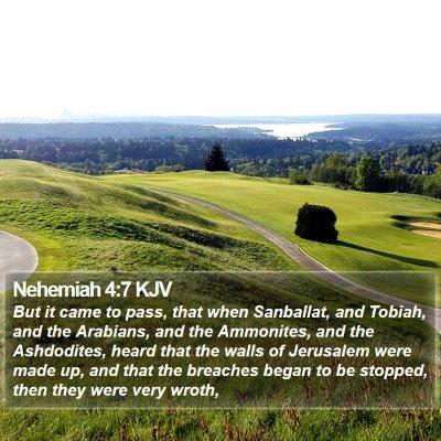 Nehemiah 4:7 KJV Bible Verse Image