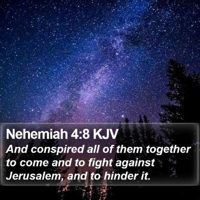 Nehemiah 4:8 KJV Bible Verse Image