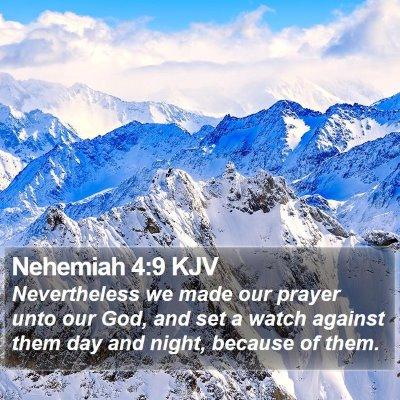 Nehemiah 4:9 KJV Bible Verse Image