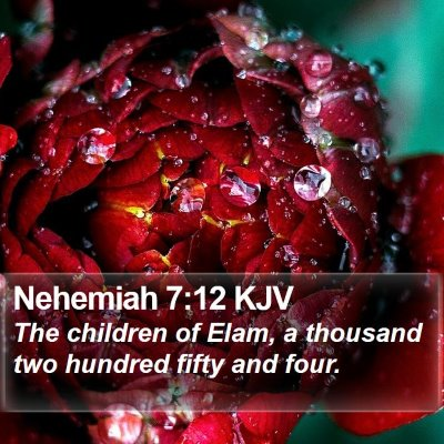 Nehemiah 7:12 KJV Bible Verse Image