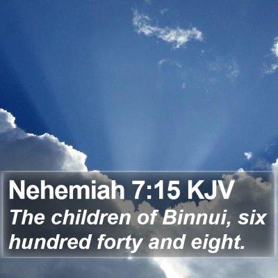 Nehemiah 7:15 KJV Bible Verse Image