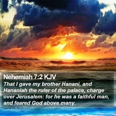 Nehemiah 7:2 KJV Bible Verse Image