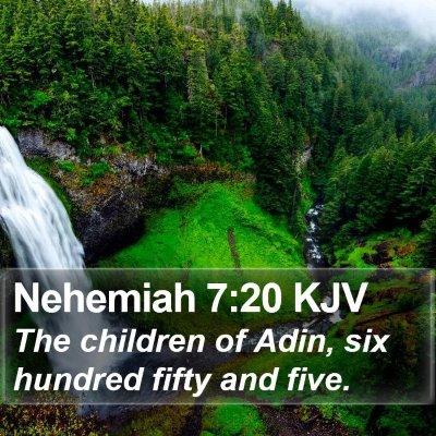 Nehemiah 7:20 KJV Bible Verse Image