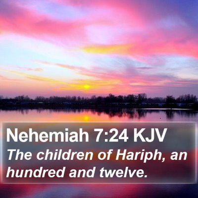 Nehemiah 7:24 KJV Bible Verse Image