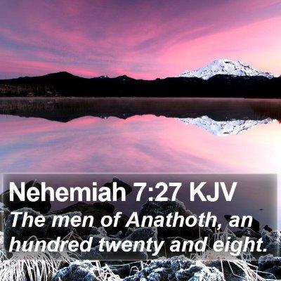 Nehemiah 7:27 KJV Bible Verse Image