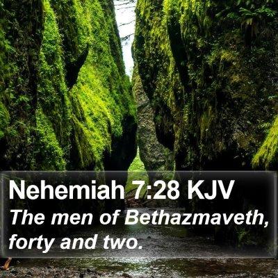 Nehemiah 7:28 KJV Bible Verse Image