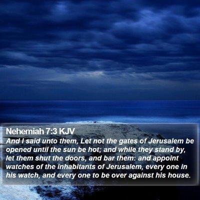 Nehemiah 7:3 KJV Bible Verse Image