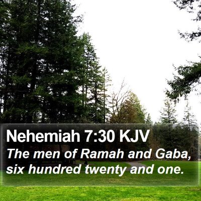 Nehemiah 7:30 KJV Bible Verse Image