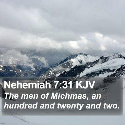 Nehemiah 7:31 KJV Bible Verse Image