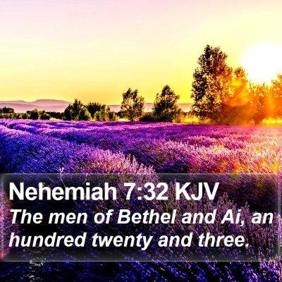 Nehemiah 7:32 KJV Bible Verse Image