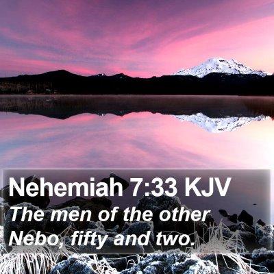 Nehemiah 7:33 KJV Bible Verse Image
