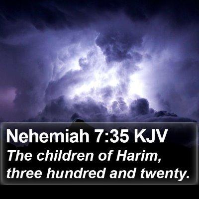 Nehemiah 7:35 KJV Bible Verse Image
