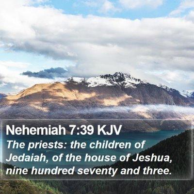 Nehemiah 7:39 KJV Bible Verse Image