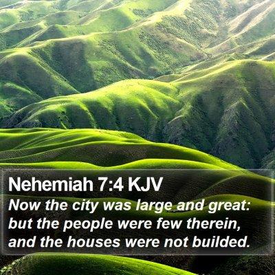 Nehemiah 7:4 KJV Bible Verse Image
