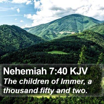 Nehemiah 7:40 KJV Bible Verse Image