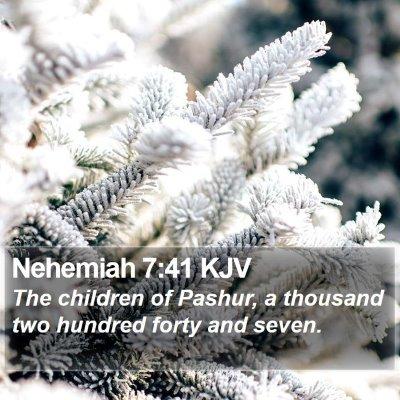 Nehemiah 7:41 KJV Bible Verse Image