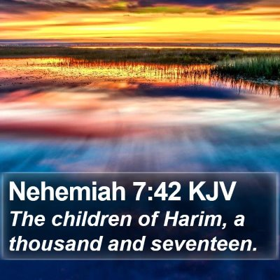Nehemiah 7:42 KJV Bible Verse Image