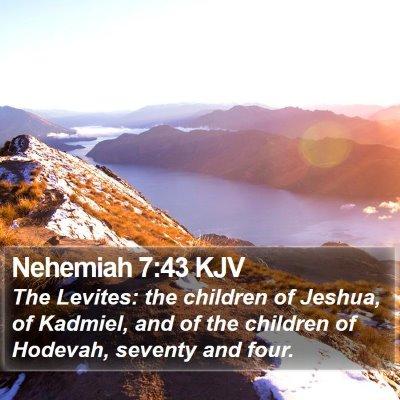 Nehemiah 7:43 KJV Bible Verse Image