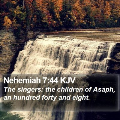 Nehemiah 7:44 KJV Bible Verse Image
