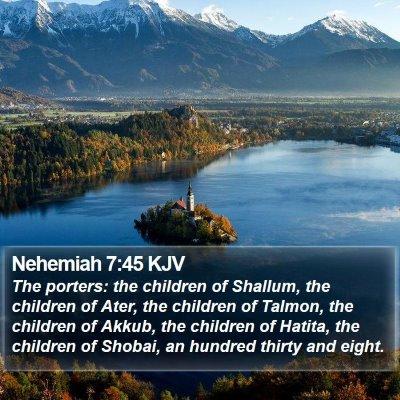Nehemiah 7:45 KJV Bible Verse Image