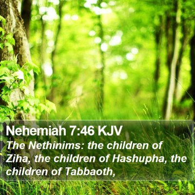 Nehemiah 7:46 KJV Bible Verse Image