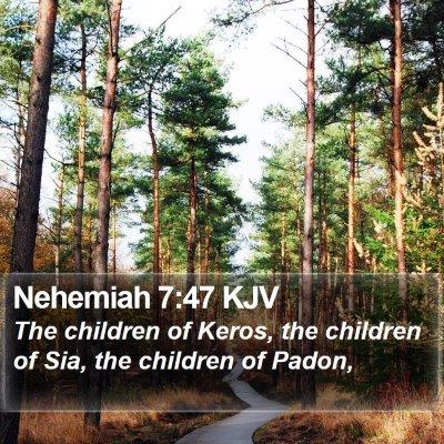 Nehemiah 7:47 KJV Bible Verse Image