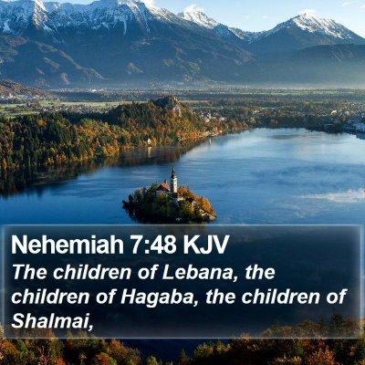 Nehemiah 7:48 KJV Bible Verse Image