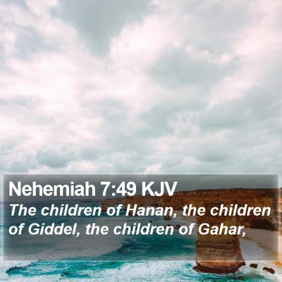 Nehemiah 7:49 KJV Bible Verse Image