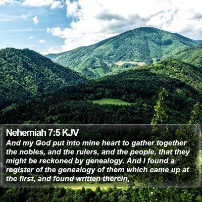 Nehemiah 7:5 KJV Bible Verse Image