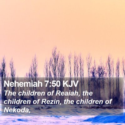 Nehemiah 7:50 KJV Bible Verse Image
