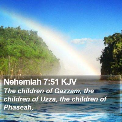Nehemiah 7:51 KJV Bible Verse Image