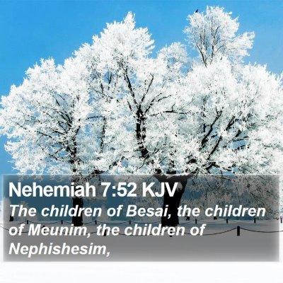 Nehemiah 7:52 KJV Bible Verse Image