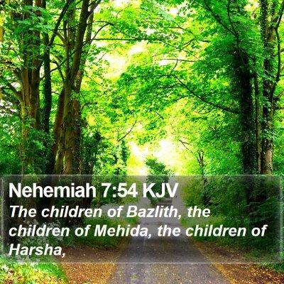 Nehemiah 7:54 KJV Bible Verse Image