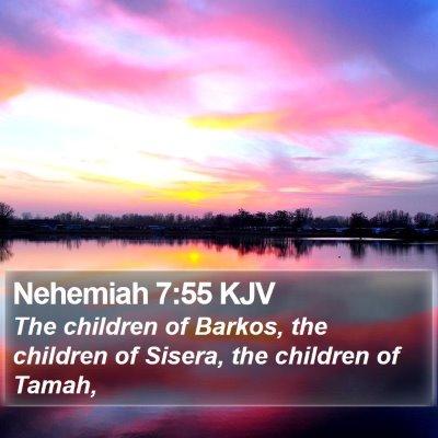 Nehemiah 7:55 KJV Bible Verse Image