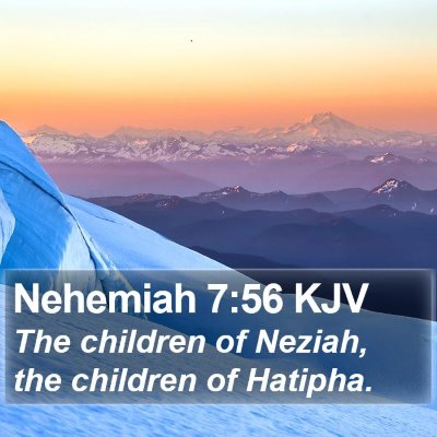 Nehemiah 7:56 KJV Bible Verse Image