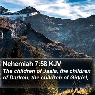 Nehemiah 7:58 KJV Bible Verse Image