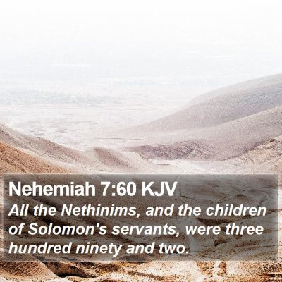 Nehemiah 7:60 KJV Bible Verse Image
