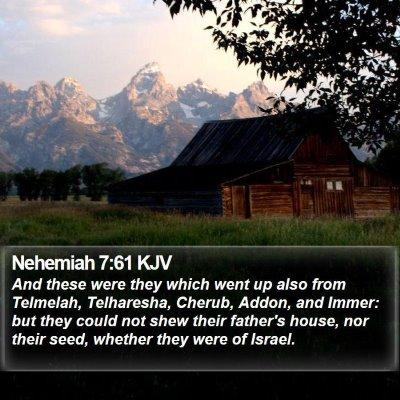 Nehemiah 7:61 KJV Bible Verse Image