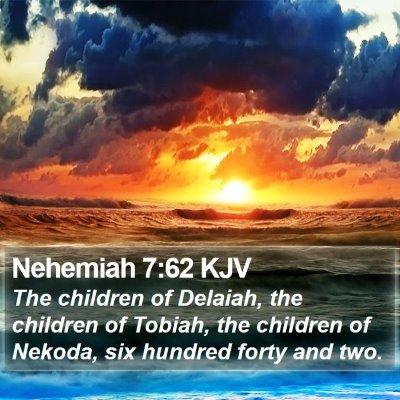 Nehemiah 7:62 KJV Bible Verse Image