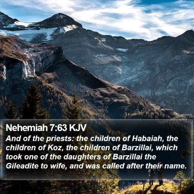 Nehemiah 7:63 KJV Bible Verse Image