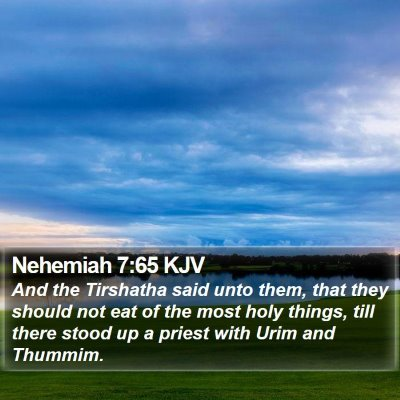 Nehemiah 7:65 KJV Bible Verse Image
