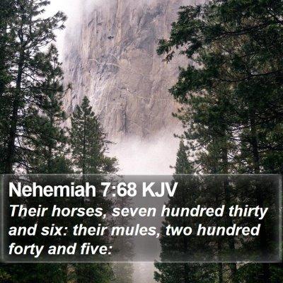 Nehemiah 7:68 KJV Bible Verse Image
